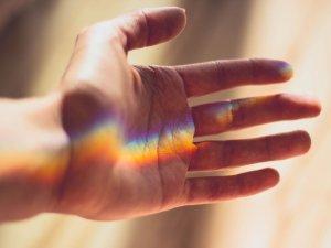 regenboog in hand