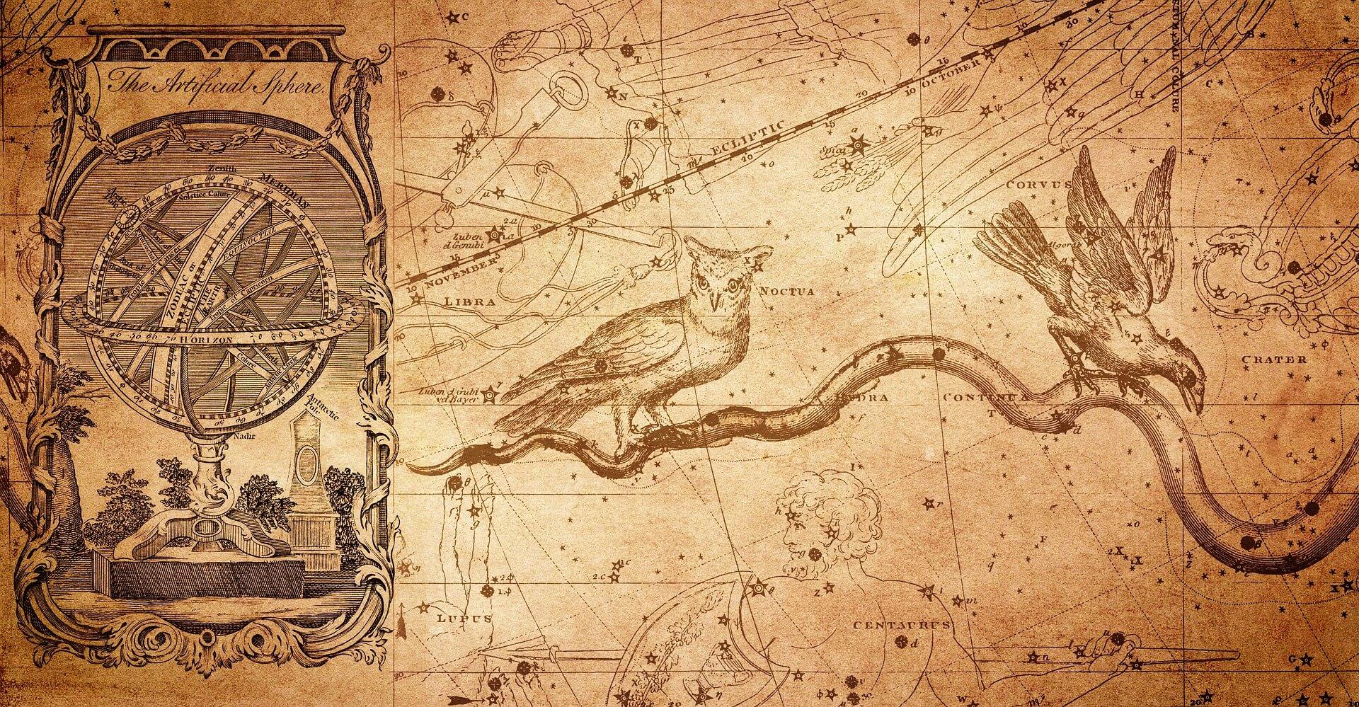 sterrenbeelden en vogels